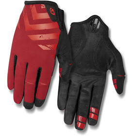 Giro DND Guanti Uomo, dark red/bright red